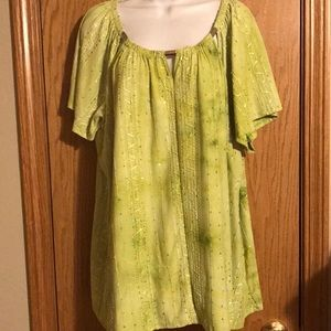 Cato size 22W green shirt with sequins